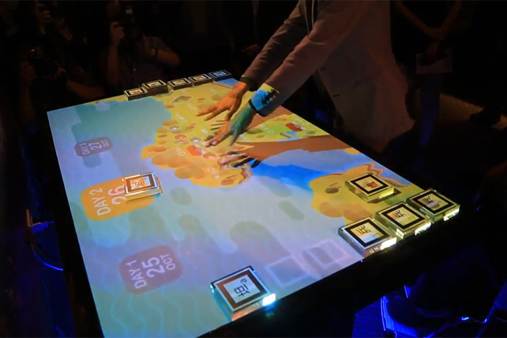 AR辨識技術,互動桌